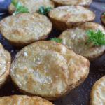 Halve kartofler i ovn