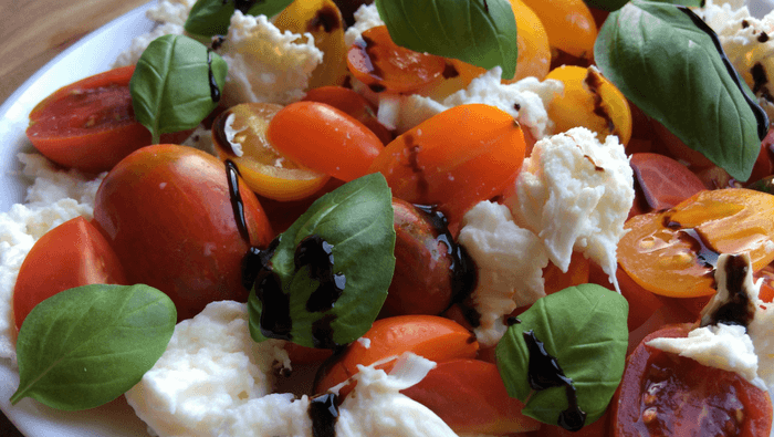 Caprese salat – tomatsalat med mozzarella